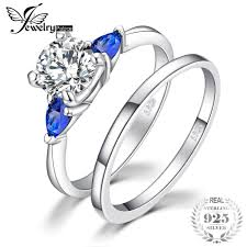 <b>JewelryPalace Created Blue Sapphire</b> Wedding Engagement Ring ...