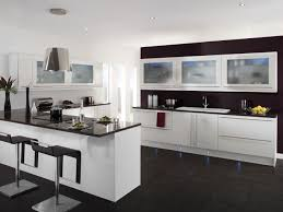 Black White Kitchen Designs Pictures Of Kitchens With White Cabinets And Dark Countertops