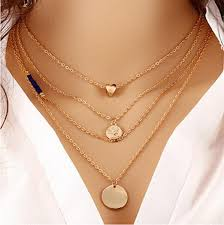 2016 Simple <b>Fashion</b> Jewelry Collares Gold <b>Multi Layer</b> Necklace ...