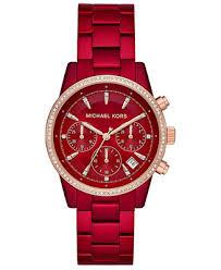 Michael Kors <b>Women's Chronograph</b> Ritz Stainless Steel <b>Bracelet</b> ...