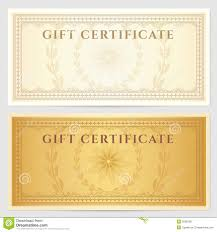 vintage voucher coupon template border royalty stock vintage voucher coupon template border