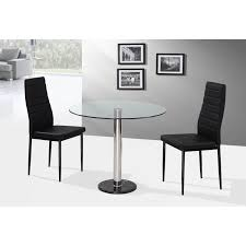 Acrylic Dining Room Chairs Round Glass Dining Table 2 Chairs Dining Sets For Two Thetheco