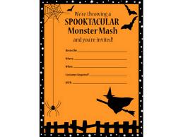 printable and halloween templates halloween party invitation