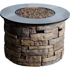 propane fire table canada patio bond canyon ridge  in w  btu brown composite liquid propane fire colum