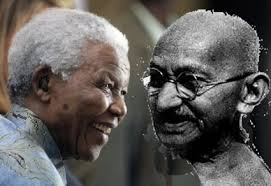 Mandela and Gandhi