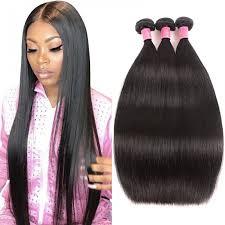 Julia Virgin <b>Brazilian Straight Hair</b> 3 Bundles Best <b>Straight Hair Weave</b>