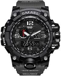 <b>SMAEL Men's</b> Analogue Digital <b>Quartz</b> Movement Military Design ...