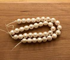 A Grade Creamy White Luster 14MM Large Hole Strand Of 36 ...