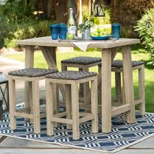 wicker bar height dining table:  counter height patio furniture with teak high patio chairs and teak paito table large
