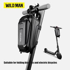 WILD MAN <b>Bicycle</b> Handlebar Bag Panniers <b>EVA Hard Shell</b> Front ...