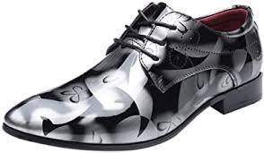 QBQCBB <b>Men's Pointed</b> Toe <b>Bright</b> Lace Up Dress Shoes Leather ...