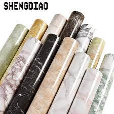 <b>Thick waterproof pvc</b> imitation marble pattern stickers wallpaper <b>self</b> ...
