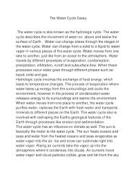 the water cycle essay raylin strickland the water cycle essaythe water cycle is also known as the hydrologic cycle