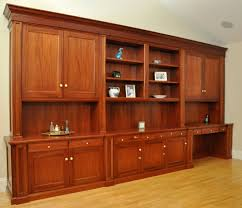 custom made traditional mahogany wall unit home office desk amish built home office