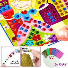 3D Crystal Acrylic Puzzle DIY <b>Mosaic</b> Foam <b>EVA</b> Stickers ...