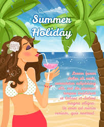 Free Vector | <b>Summer</b> holiday poster vector design with a beautiful ...