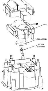 hot rodding the hei distributor drawing of cap and coil related parts