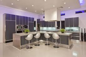 modern elegent design of the led kitchen light that has modern cream floor that can be beautiful kitchen lighting