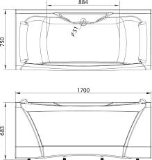<b>Акриловая ванна Aima Design</b> Dolce Vita 170x75 купить в ...