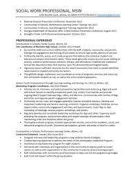 sample resume school social worker resume social worker resume template