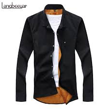 Velvet <b>New Fashion</b> Casual Men Shirt <b>Long</b> Sleeve Trend Slim Fit ...