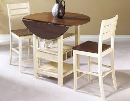 kitchen table chairs images ideas: very small round drop leaf dining table with wine and glasses storage