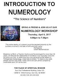 workshop basics of numerology and the magic of numbers