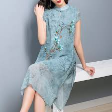 <b>2019 Cheongsam</b> Vintage Chinese Style Short Dress Womens <b>Lace</b>