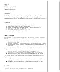 professional general maintenance worker templates to showcase your    resume templates  general maintenance worker