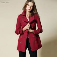 Trench Coat For Women Windbreaker Gabardine Cotton European ...