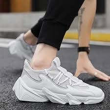 2019 的 <b>Men's Shoes Mesh</b> Cloth Clunky Sneaker <b>Breathable</b> Sport ...