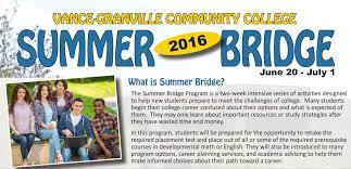 new summer bridge program accepting applicants vance summer bridge poster