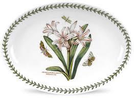 """<b>Блюдо овальное</b> Portmeirion """"Ботанический сад.<b>Белладонна</b>"""" 28см"""