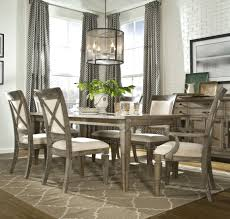seven piece dining set:  piece dining set with leg table with   inch extension leaf