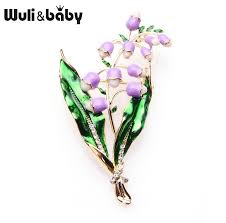 <b>Wuli&baby</b> Purple Pink Lavender Flowers Brooches Alloy Classic ...