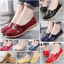 Women's <b>Genuine Leather</b> Women's <b>Leisure</b> Flat Shoes Causal ...