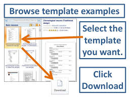 accessing resume templates in word   browse template