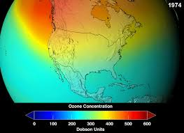 ozone depletion nasa projections of stratospheric ozone concentrations if chlorofluorocarbons had not been banned