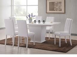 Dining Room Chairs White Incredible Dining Room Set Sleek Traditional White Rectangle