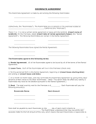 renters agreement form doc by bgf roommate agreement templates