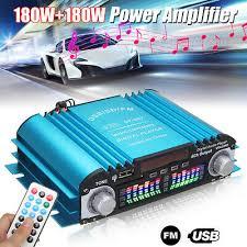 <b>360W</b> 4 Channel 12V <b>Mini</b> Digital Audio Stereo Amplifier USB SD ...