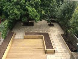 garden furniture patio uamp: garden and patio deck with hardwood floor tiles soil mix for