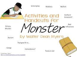 activities and handouts for monster by walter dean myers   walter    activities and handouts for monster by walter dean myers