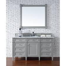 bathroom vanity 60 inch: brittany  inch single vanity cabinet in urban gray