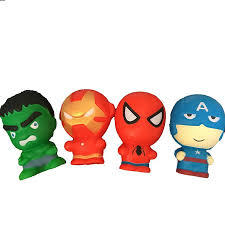 <b>4pcs lot</b> Avengers <b>Super Hero</b> Squishy Toys Captain America ...