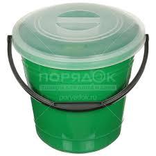 <b>Ведро пластиковое</b>, 15 л, с крышкой, цвет в ассортименте в ...