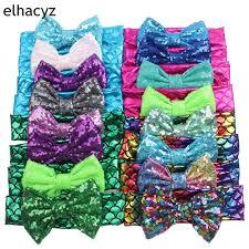 """Party <b>Chic</b> Kids Girl <b>5</b>"""" Messy Sequins Bows Mermaid Elastic ..."""