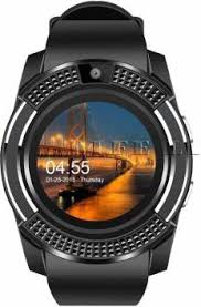 Wescon <b>V8 Bluetooth</b> 4G <b>Touch Screen</b> Black Smartwatch Price in ...