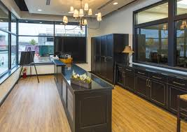 awesome office design with black wooden cabinet on wooden earthwerks flooring ideas awesome office designs