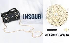 INSOUR <b>130cm Bag</b> Chain <b>Strap</b>, Metal Chain <b>Strap</b> Replacement ...